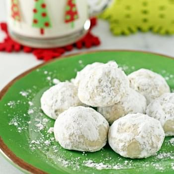 Snowball Cookies with Mini Chocolate Chips