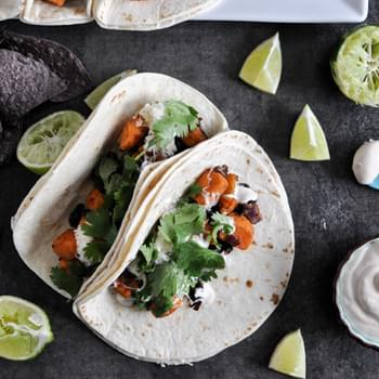 Smoky Sweet Potato and Black Bean Tacos