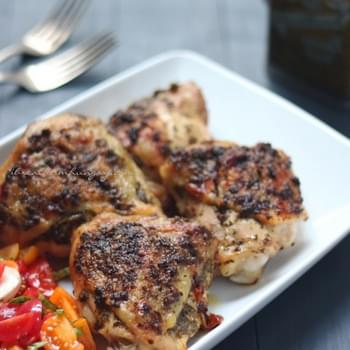 Pesto-stuffed Chicken Thighs – Low Carb and Gluten Free