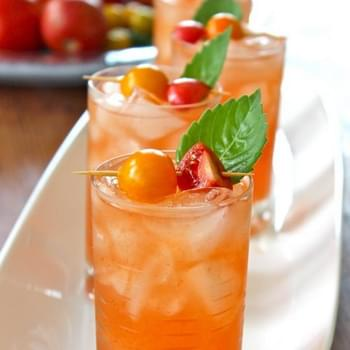 Tomato Water and Basil Bloody Mary