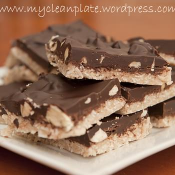 Choc Almond & Coconut Slice (Gluten Free, Low Fodmap, Lactose Free, Clean Eating, Low Carb, Vegan)