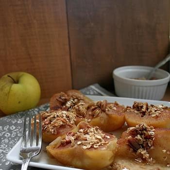 Cinnamon Sugar Baked Apples with Honey Nut Granola