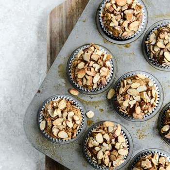 Whole Wheat Toasted Almond Pumpkin Muffins