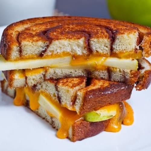 Apple Cinnamon Swirl Grilled Cheese Sandwich