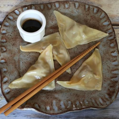 Pork Dumplings with Simple Dipping Sauce