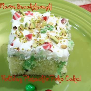Holiday Pistachio Poke Cake!