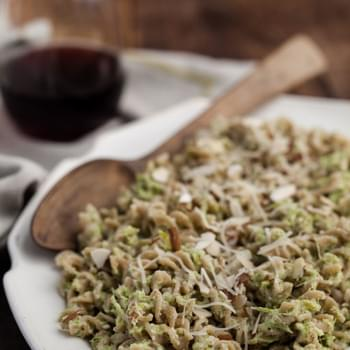 Broccoli-Almond Pesto Pasta