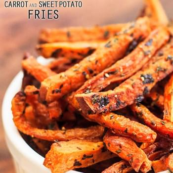 Baked Carrot and Sweet Potato Fries