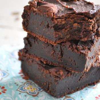 Dark Chocolate Flourless Fudge Brownies (Gluten Free, Diary Free)