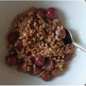 Roasted Grape Breakfast Farro