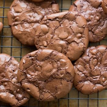 Flourless Chocolate Brownie Cookies