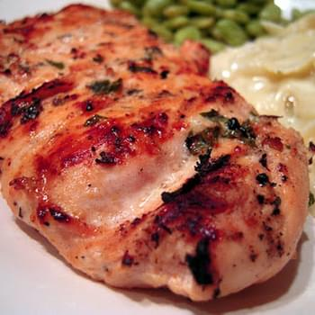 Lemon Basil Buttermilk Grilled Chicken