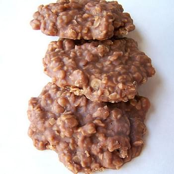 No Bake Chocolate Oatmeal Cookies