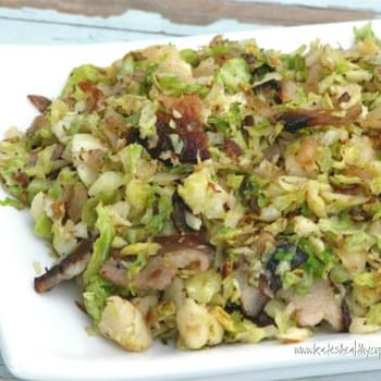 Sauteed Shredded Brussel Sprouts