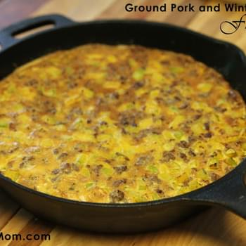 Ground Pork and Winter Squash Frittata