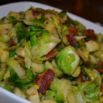 Brown Sugar Brussels Sprouts with Bacon