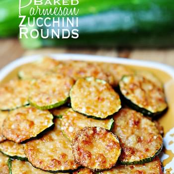 Baked Parmesan Zucchini Rounds