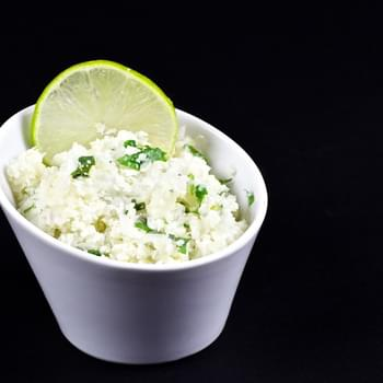 Cilantro and Lime Cauliflower Rice