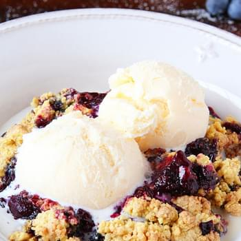 Brown Butter Blueberry Cobbler