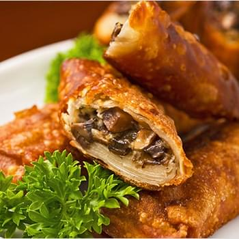 Goat Cheese and Mushroom Egg Rolls