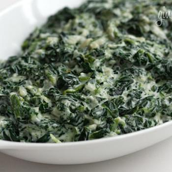 Creamed Spinach - Lightened Up