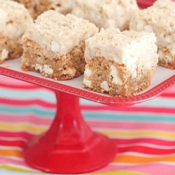 Oatmeal White Chocolate Cookie Dough Bars