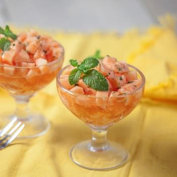 Cantaloupe With Lime, Mint And Honey