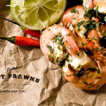 Spot Prawns with Lime and Cilantro