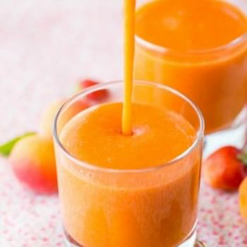 Apricot Strawberry Smoothies