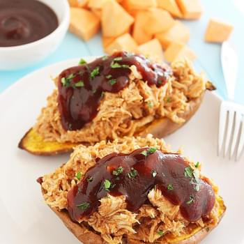 3-Ingredient BBQ Stuffed Sweet Potatoes