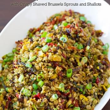 Quinoa Lentil Salad - Roasted Brussels Sprouts