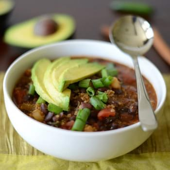 Black Bean & Quinoa Chili
