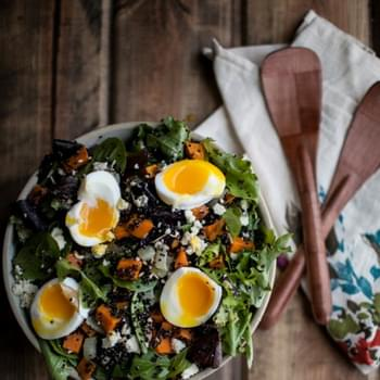 Sweet Potato and Quinoa Salad with Soft-Boiled Eggs