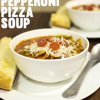 One Pot Hormel Pepperoni Pizza Soup