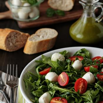 Tomato and Mozzarella Salad with Basil Vinaigrette