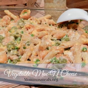 Vegetable Mac N Cheese for #WeekdaySupper
