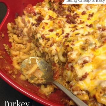 Turkey Cheeseburger Casserole