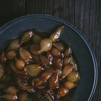 Caramelized Pearl Onions in Honey & Balsamic