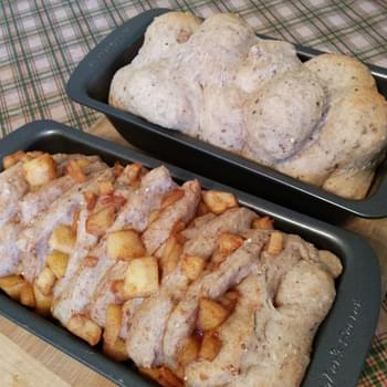 Apple pull apart bread + Apple monkey bread! (vegan)