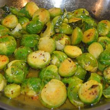 Pan-tossed Brussels Sprout in South-Indian Flavors