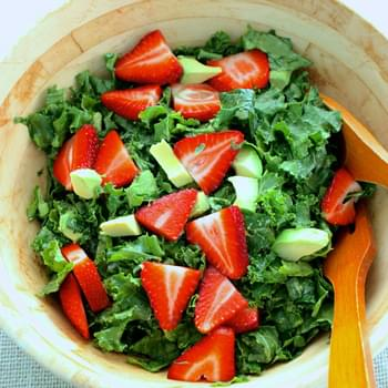 Kale, Avocado, and Strawberry Salad