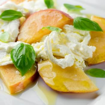Peach Burrata Caprese