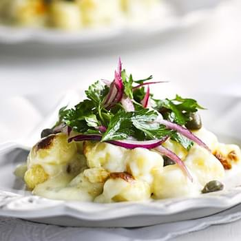 Gorgonzola Gnocchi With Parsley Salad