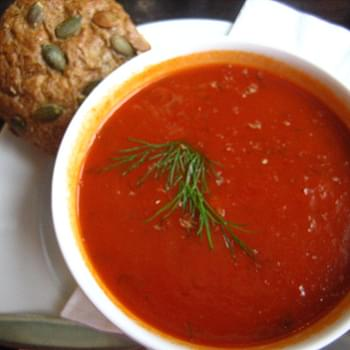 Fresh Cream of Tomato Soup recipe – 119 calories