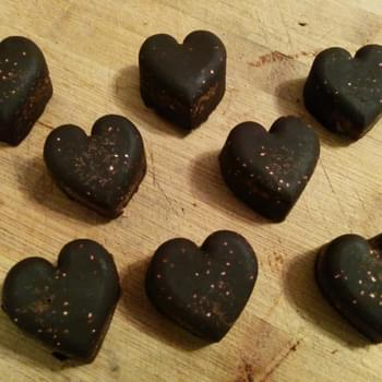 Homemade Chocolates With Quinoa And Almonds (clean Eats/vegan)