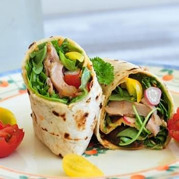 Spicy Chicken Wrap—Lunch for One (with Pictorial)