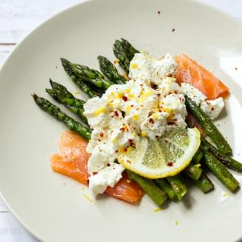Ricotta, Grilled Asparagus & Salmon Layered Salad