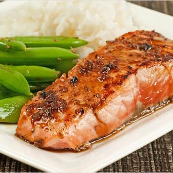 Salmon Fillets with Garlic-Soy Pan Sauce