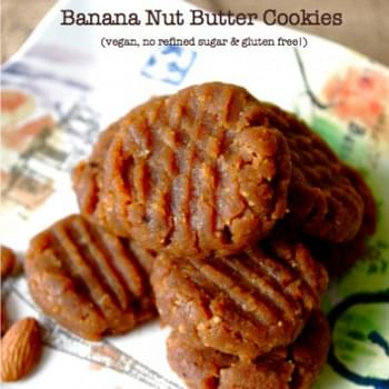 Soft & Chewy Banana Nut Butter Cookies