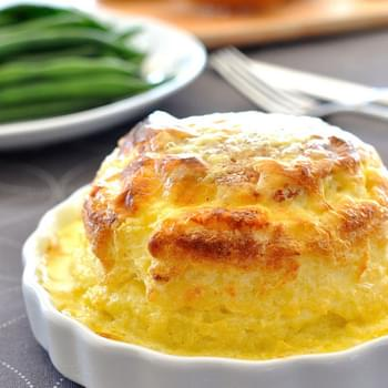 Twice Baked Make Ahead Cheese Souffle